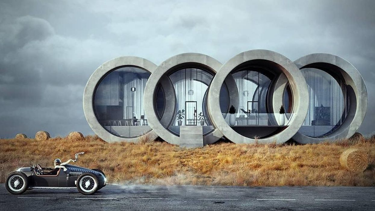 Audi-logó ihlette ezt az extravagáns házat