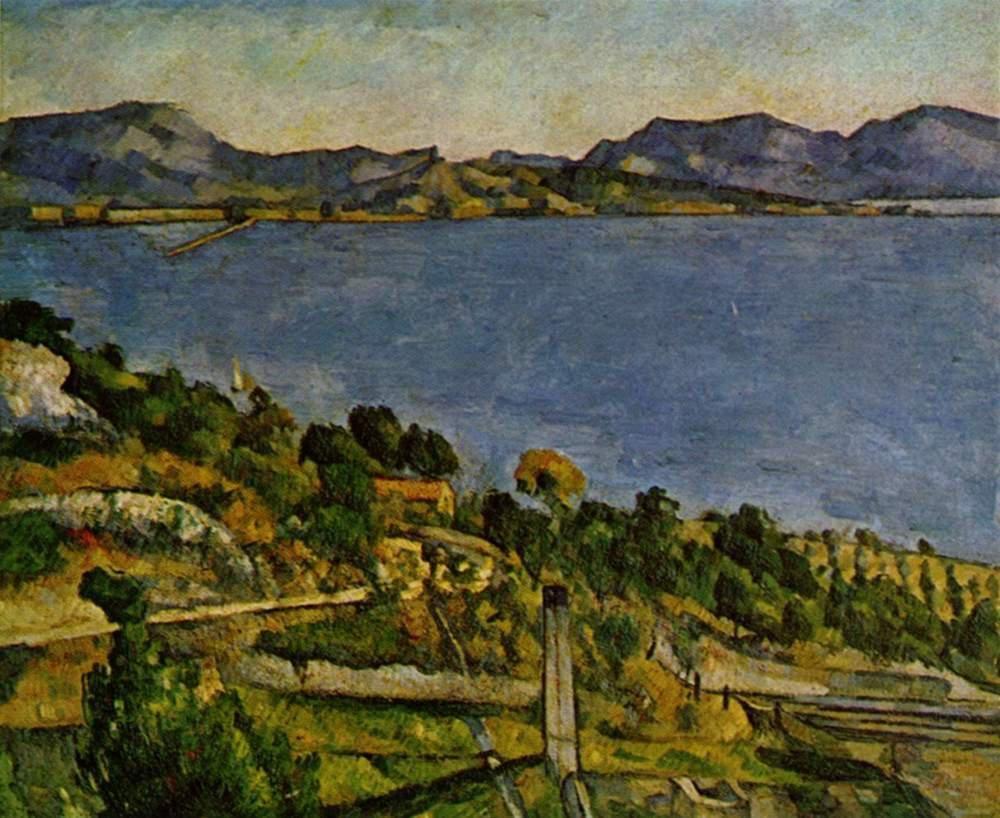 Paul Cézanne 1885-ben festett Sea at L'Estaque című képe