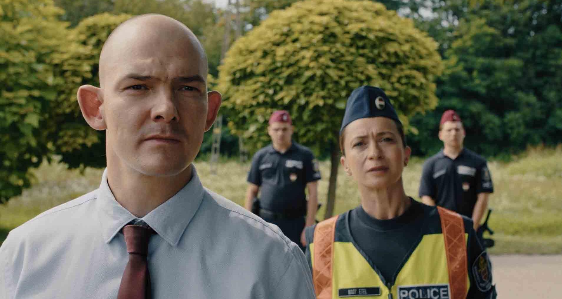 Fazekas Máté Kilakoltatás című filmjének egyik jelenete, Orosz Ákos és Láng Annamária szereplésével