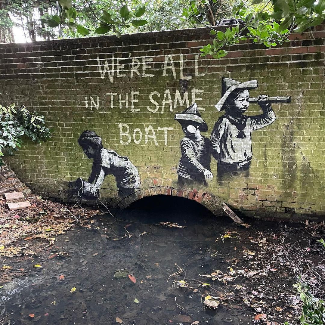 A Suffolk megyei Lowestoftban feltűnt, lehetséges Banksy-alkotás