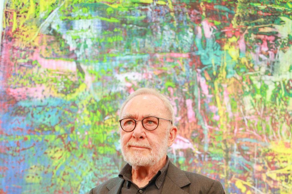 Gerhard Richter potsdami kiállítása sajtótájékoztatóján 2018-ban.