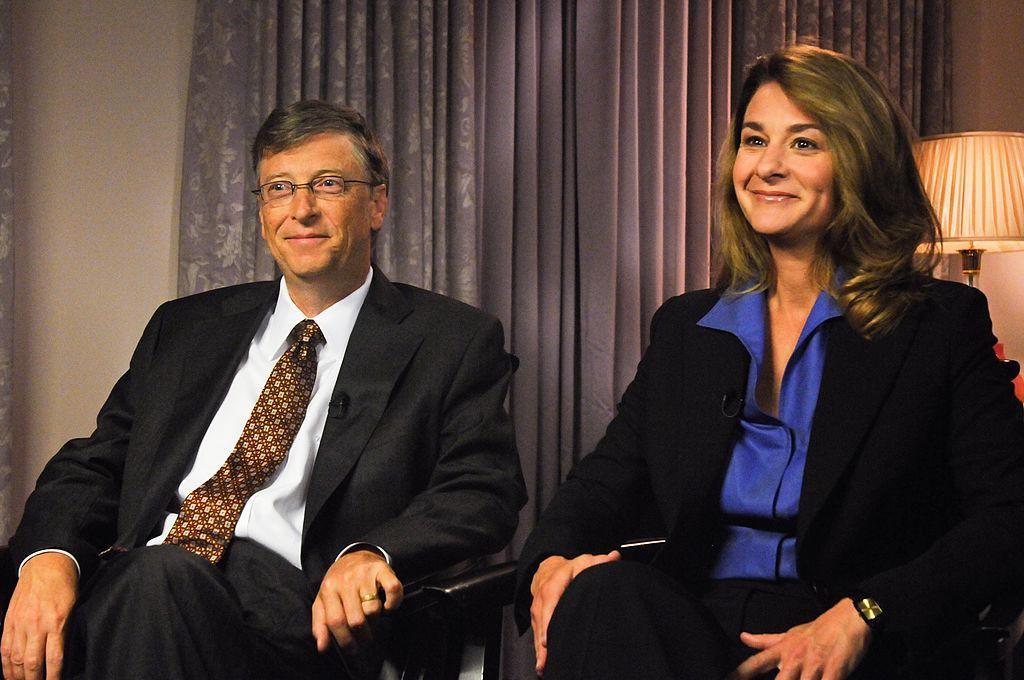 Bill és Melinda Gates 2009-ben a Meet the Press című televíziós műsor felvételén