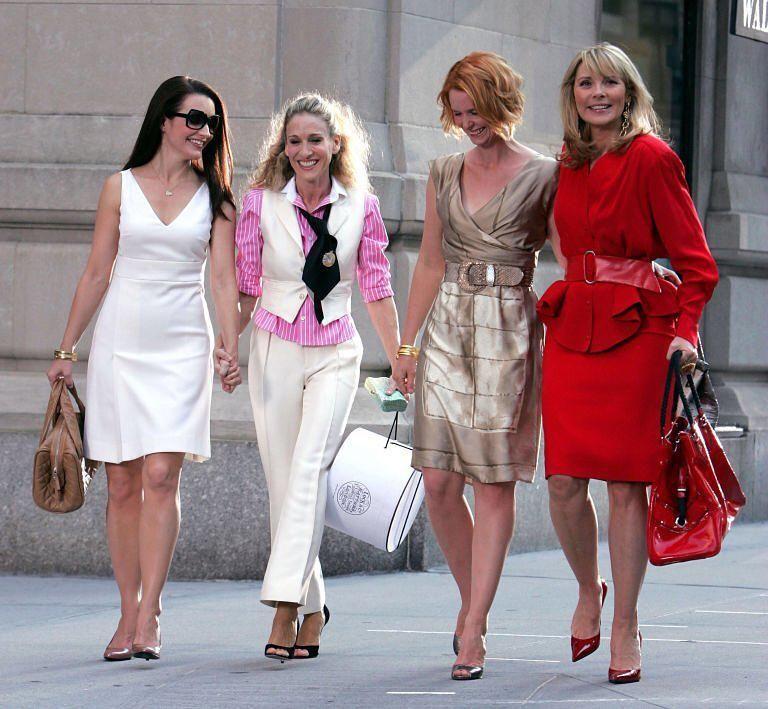 Kristin Davis, Sarah Jessica Parker, Cynthia Nixon és Kim Cattrall a Szex és New York című sorozatban