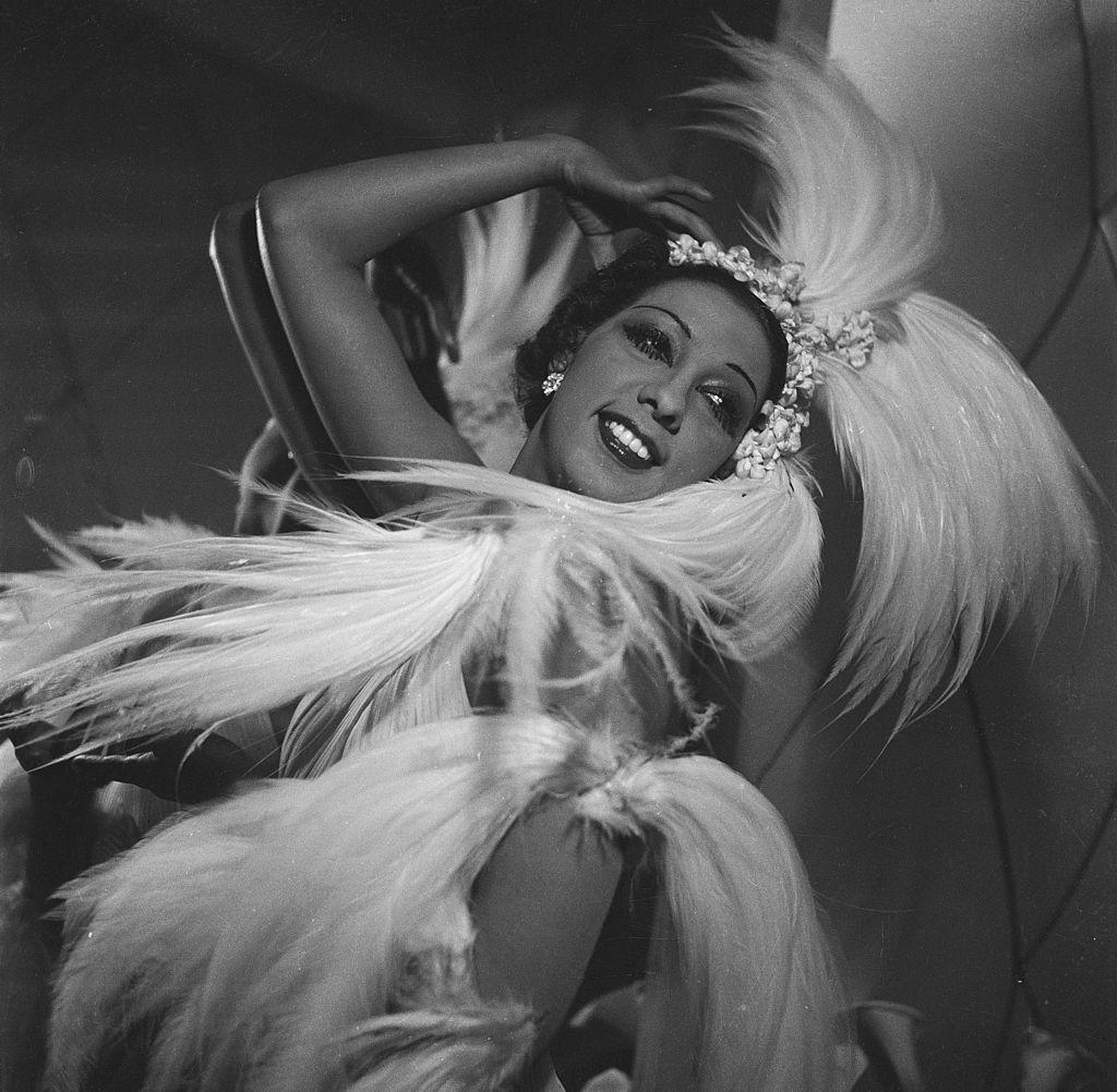 Joséphine Baker énekes-táncos revüsztár 1926 körül