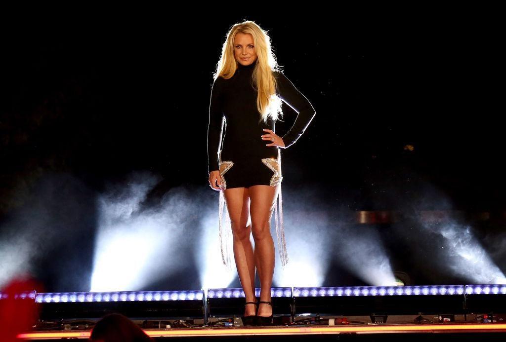 Britney Spears új show-ja, a Domination sajtóbejelentésén 2018-ban, Las Vegasban.