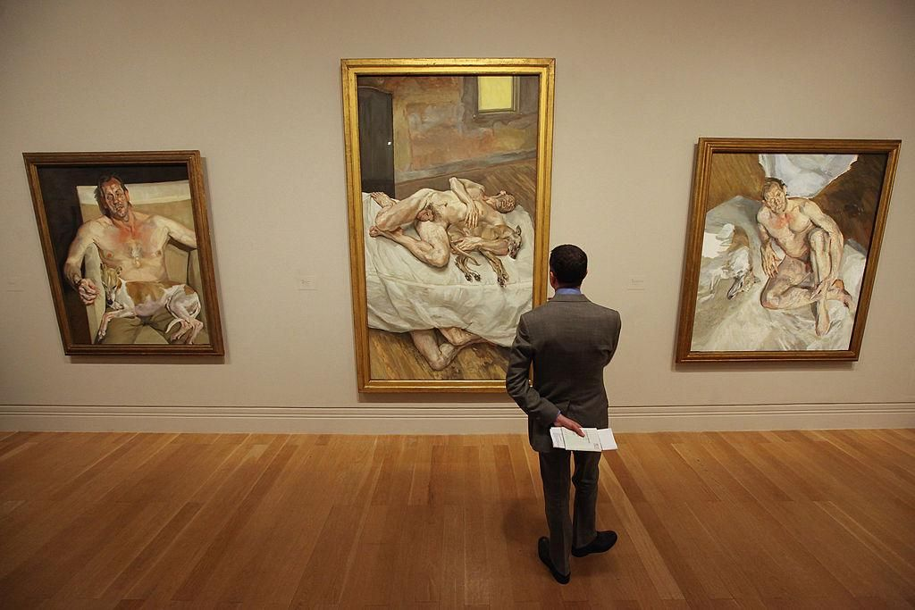 A Lucian Freud Portraits című kiállítás a londoni National Portrait Gallery-ben 2012-ben