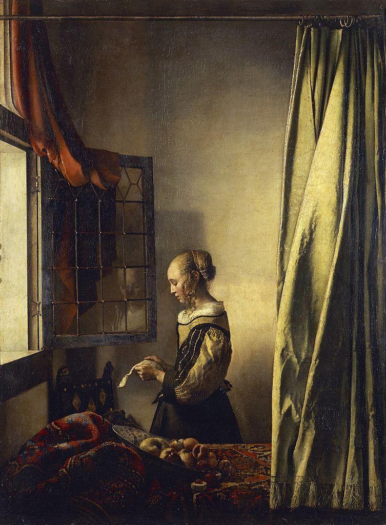 Johannes Vermeer Nyitott ablaknál levelet olvasó lány című festménye