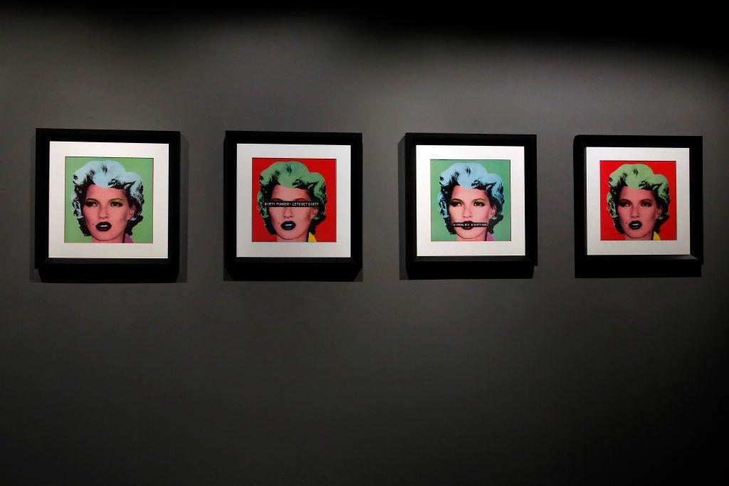 A Mindent Banksyről című kiállítás Rómában, 2021-ben.