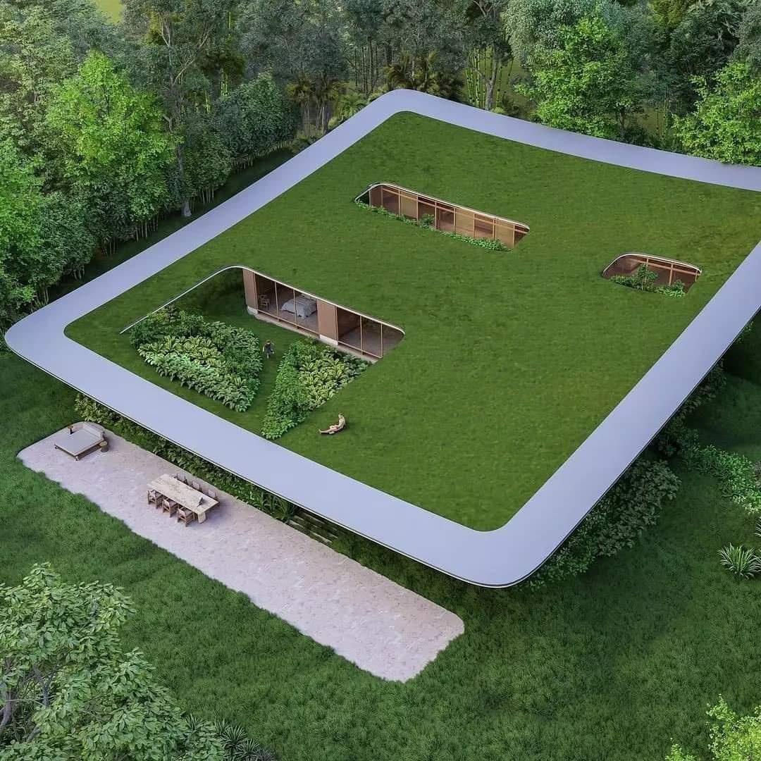 A Victor B. Ortiz által tervezett, különleges tetővel ellátott brazíliai ház