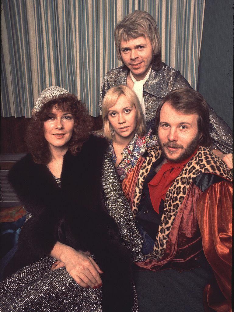Az ABBA együttes tagjai Londonban, 1975-ben
