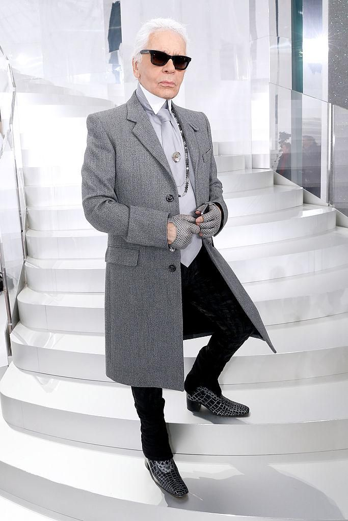 Karl Lagerfeld a Párizsi Divathéten 2014-ben