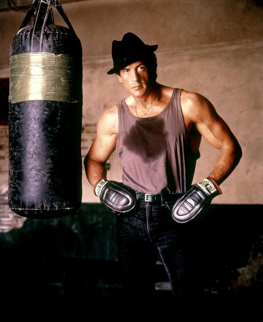 Sylvester Stallone a Rocky V. forgatásán