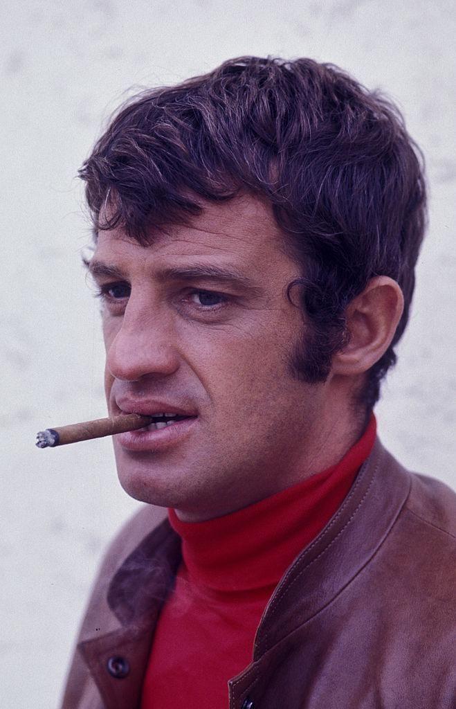 Jean-Paul Belmondo A nagy zsákmány című film forgatásán 1968-ban