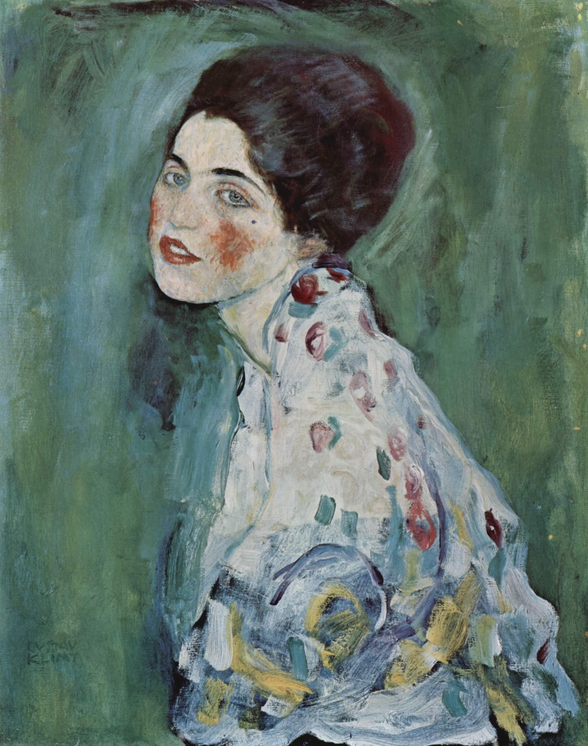 Gustav Klimt Bildnis einer Frau (Egy hölgy arcképe) című festménye