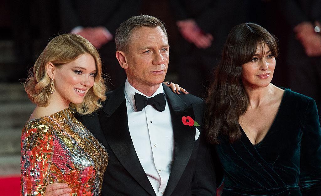 Léa Seydoux, Daniel Craig és Monica Bellucci bemutatója a londoni Royal Film Performance-on