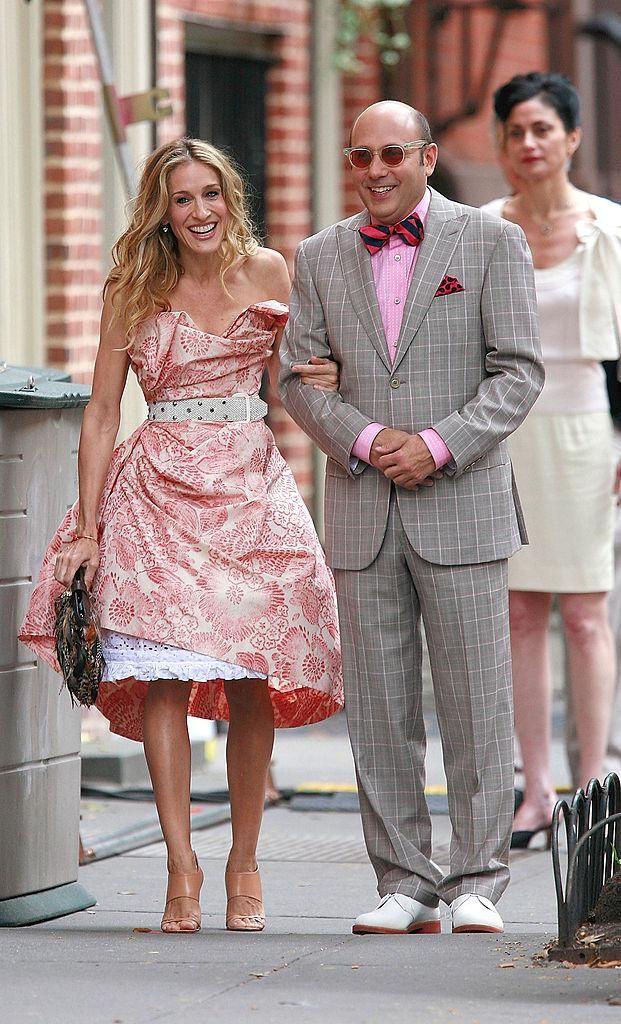Sarah Jessica Parker és Willie Garson a Szex és New York című film forgatásán 2007-ben