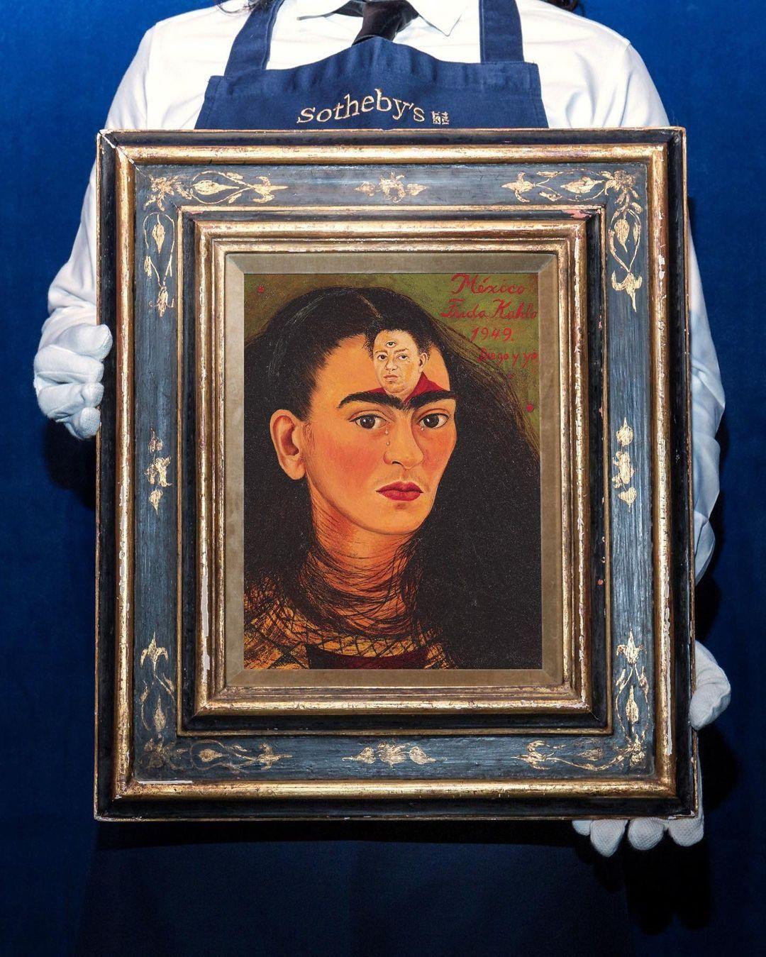 Frida Kahlo Diego y yo (Diego és én) című festménye