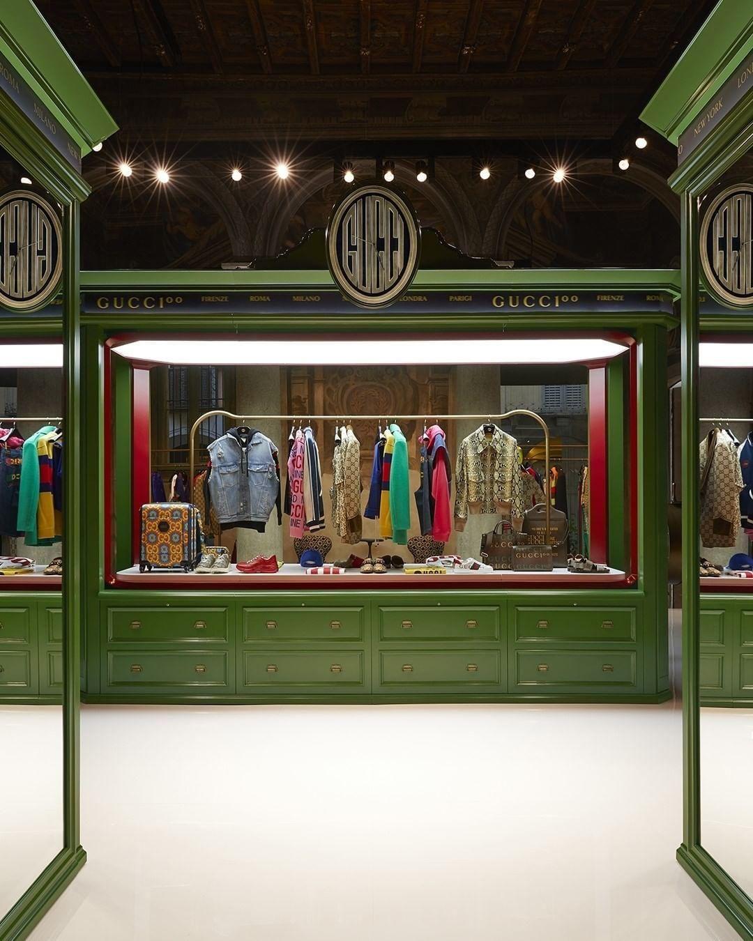 A milánói Gucci pop-up bolt